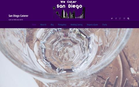 Screenshot of Home Page wecatersd.com - San Diego Catering | Events, Weddings, Corporate, Custom Menus just for you! - captured Oct. 6, 2014