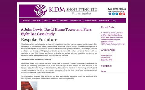 Screenshot of Blog kdmshopfitting.com - KDM Shopfitting – Just another WordPress site - captured Nov. 27, 2016