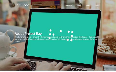 Screenshot of About Page project-ray.com - About Project Ray - captured Feb. 1, 2016