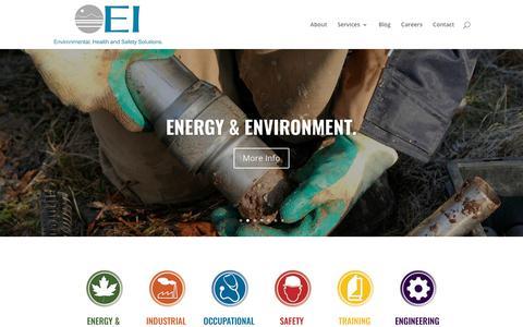 Screenshot of Home Page ei1.com - Home - The EI Group - captured Sept. 23, 2018