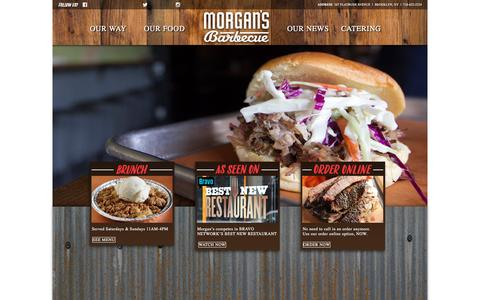 Screenshot of Home Page morgansbrooklynbarbecue.com - Morgan's Brooklyn Barbecue - captured June 20, 2016