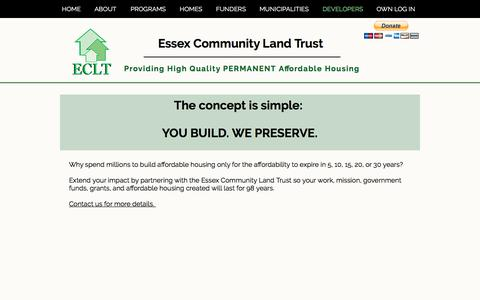 Screenshot of Developers Page essexclt.org - eclt | DEVELOPERS - captured Aug. 13, 2017