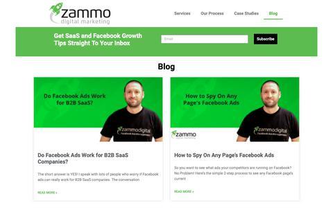 Screenshot of Blog zammodigital.com - Blog - captured Feb. 8, 2019