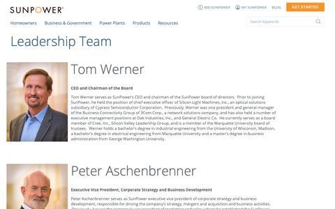 Screenshot of Team Page sunpower.com - Leadership & Executive Management Team | SunPower - captured March 19, 2019