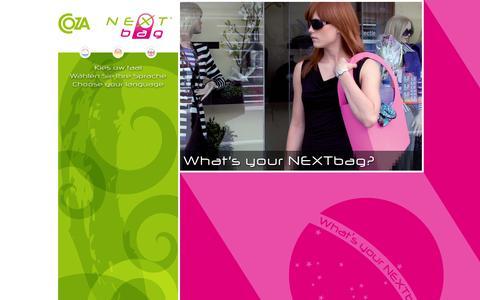 Screenshot of Home Page nextbag.nl - Nextbag - What's your Nextbag? - captured Jan. 30, 2015