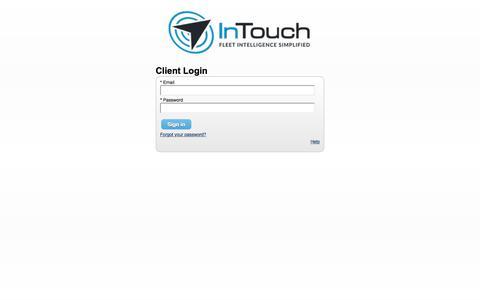 Screenshot of Login Page intouchgps.com - Brilliantly Simple. Incredibly Effective - captured Dec. 8, 2019
