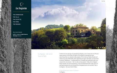 Screenshot of Home Page lasegreta.com - La Segreta - captured Sept. 27, 2014