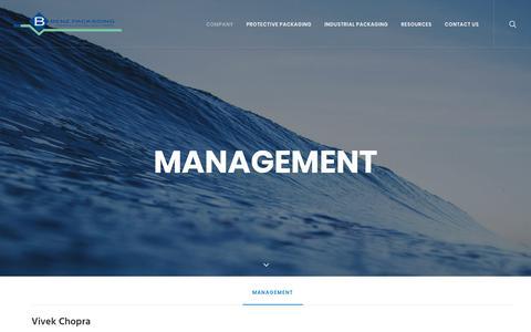 Screenshot of Team Page benz-packaging.com - Management | Benz Packaging - captured Oct. 9, 2017