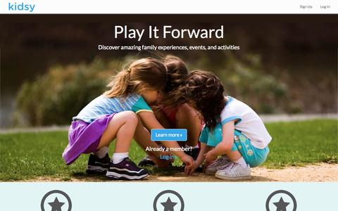 Screenshot of Home Page kidsy.co - Kidsy.co - captured Oct. 8, 2014