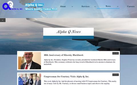 Screenshot of Press Page alphaqinc.com - News - captured Nov. 6, 2018