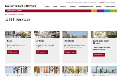Screenshot of Services Page kfh.co.uk - KFH Property management and financial services - captured Aug. 29, 2016