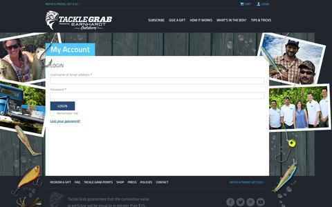 Screenshot of Login Page tacklegrab.com - My Account | Tackle Grab - captured Sept. 17, 2014