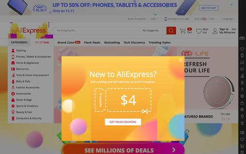 AliExpress.com - Online Shopping for Popular Electronics, Fashion, Home & Garden, Toys & Sports, Automobiles and More.