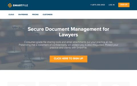Screenshot of Terms Page smartfile.com - SmartFile's Secure Document Solution for Lawyers & Legal - captured July 5, 2018