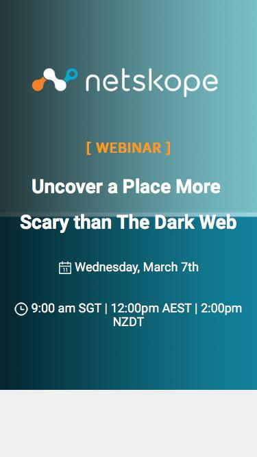Uncover a place more scary than The Dark Web