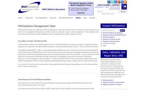 Screenshot of Team Page matsolutions.com - Management Team | MATsolutions - captured Sept. 30, 2014