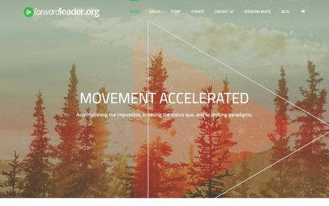 Screenshot of Home Page forwardleader.org - Global Impact through Leadership™ | Forward Leader - captured Aug. 2, 2015