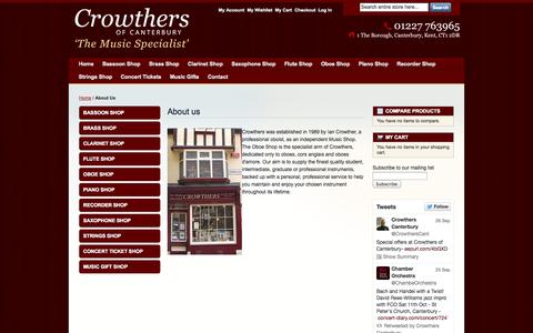 Screenshot of About Page crowthersofcanterbury.co.uk - About Us - captured Sept. 30, 2014