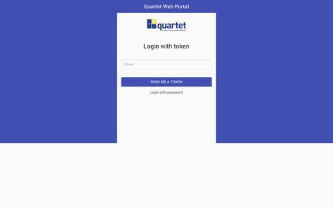 Screenshot of Login Page quartetservice.com - Quartet Web Portal - captured Dec. 10, 2018