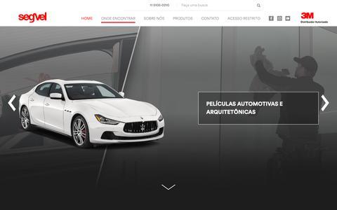 Screenshot of Home Page segvel.com.br - Homepage – Segvel - captured Oct. 2, 2018