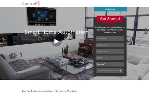 Screenshot of Landing Page control4.com - Home Automation | Control4 - captured Oct. 27, 2014