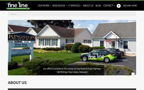 Screenshot of About Page finelinewebsites.com - Delaware Website Development & IT Consulting Team - captured Oct. 10, 2018