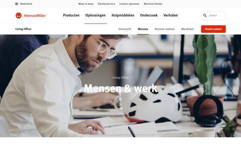 Screenshot of Team Page hermanmiller.com - Living Office – Mensen & werk – Herman Miller - captured Oct. 23, 2018
