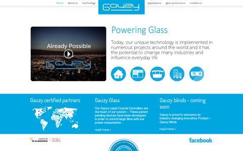 Screenshot of Home Page gauzy.co.il - Gauzy - captured July 11, 2014