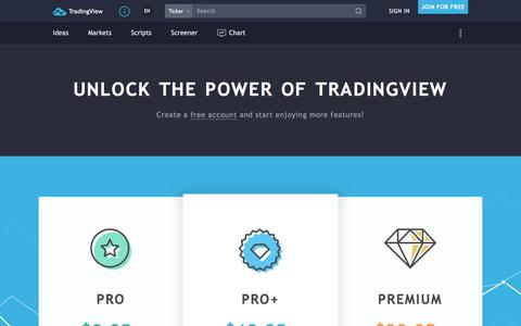 Screenshot of Pricing Page tradingview.com - Upgraded Plans & Extra Features — TradingView - captured July 20, 2018