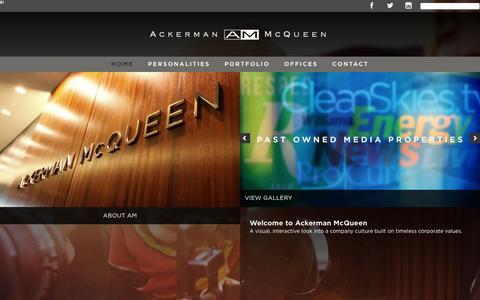 Screenshot of Home Page am.com - AM.COM - captured Feb. 1, 2016