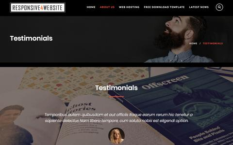 Screenshot of Testimonials Page responsive4website.com - Testimonials – Responsive 4 Website - captured Sept. 23, 2018