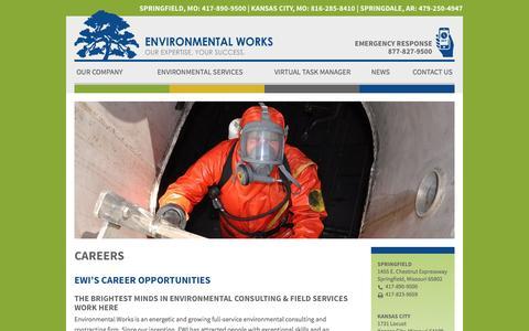 Screenshot of Jobs Page environmentalworks.com - Careers | Environmental Works - captured Jan. 30, 2016