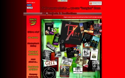 Screenshot of Home Page 7hart.it - 7(H)art homepage www.7hart.it - captured Oct. 7, 2014