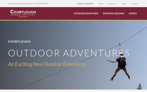 Screenshot of Home Page courtlough.ie - Shooting Range & Outdoor Adventure Activities Dublin Courtlough - captured Sept. 4, 2017