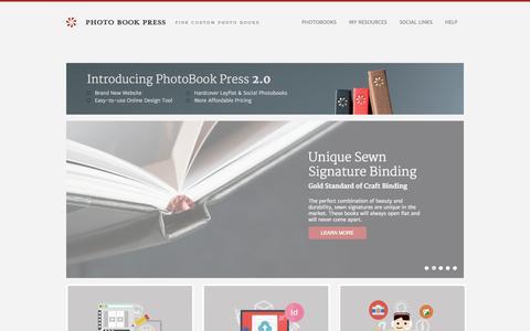 Screenshot of Site Map Page photobookpress.com - Photobook Press | Fine Custom Photo Books - captured Oct. 28, 2014