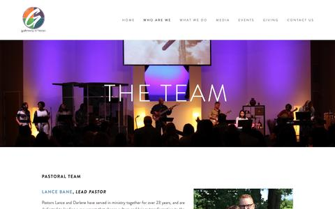 Screenshot of Team Page yourgateway.com - The Team — Gateway Christian Fellowship - captured Nov. 20, 2018