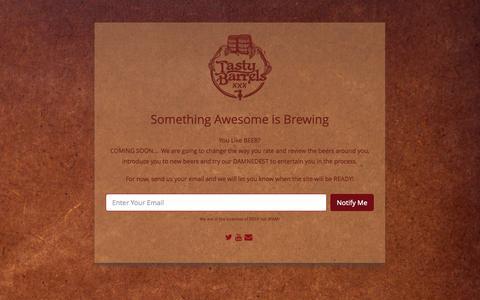 Screenshot of Home Page tastybarrels.com - Tasty Barrels - captured Sept. 30, 2014