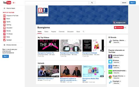Screenshot of YouTube Page youtube.com - Buongiorno  - YouTube - captured Oct. 23, 2014