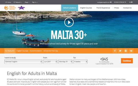 Adult English Courses - EC Malta 30+ - EC English Language Schools