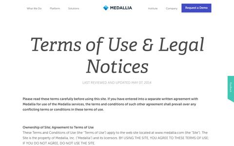 Terms of Use | Medallia