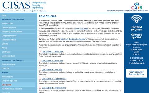 Screenshot of Case Studies Page cedr.com - CISAS: Case Studies - captured April 6, 2017