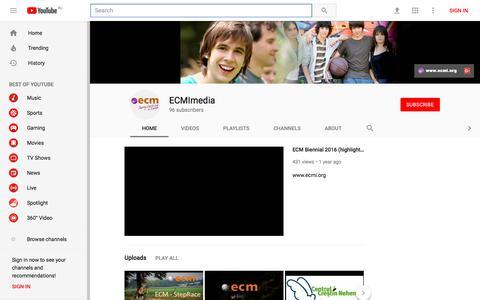Screenshot of Press Page youtube.com - ECMImedia - YouTube - YouTube - captured Feb. 15, 2018
