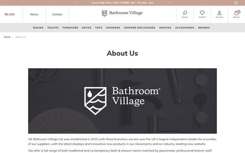 Screenshot of About Page bathroomvillage.com - About Us – BathroomVillage.com - captured Oct. 1, 2018