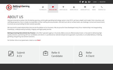 Screenshot of About Page bgrecruitment.com - About Us | Betting Gaming Recruitment - captured Oct. 10, 2017