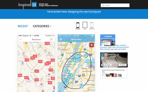 Screenshot of Maps & Directions Page inspired-ui.com - Inspired UI - Mobile Apps Design Patterns [iPhone] - captured Feb. 27, 2016