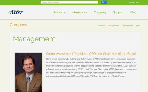 Screenshot of Team Page asset-intertech.com - Management | ASSET InterTech - captured Oct. 2, 2018