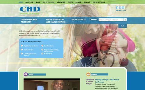 Screenshot of Home Page chd.org - Home | CHD - captured Oct. 2, 2014