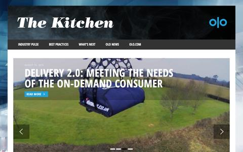 Screenshot of Blog Contact Page Press Page olo.com - Olo Blog | The Kitchen - captured May 9, 2017