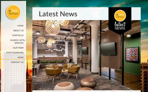 Screenshot of Press Page ctwohotels.com - News from C-Two Hotels | San Francisco, Ca. 94104 : C-Two Hotels - captured July 13, 2018