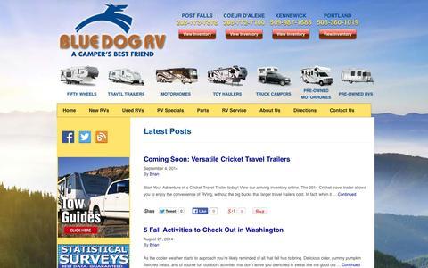 Screenshot of Blog bluedogrv.com - Blue Dog RV Blog | - captured Sept. 30, 2014